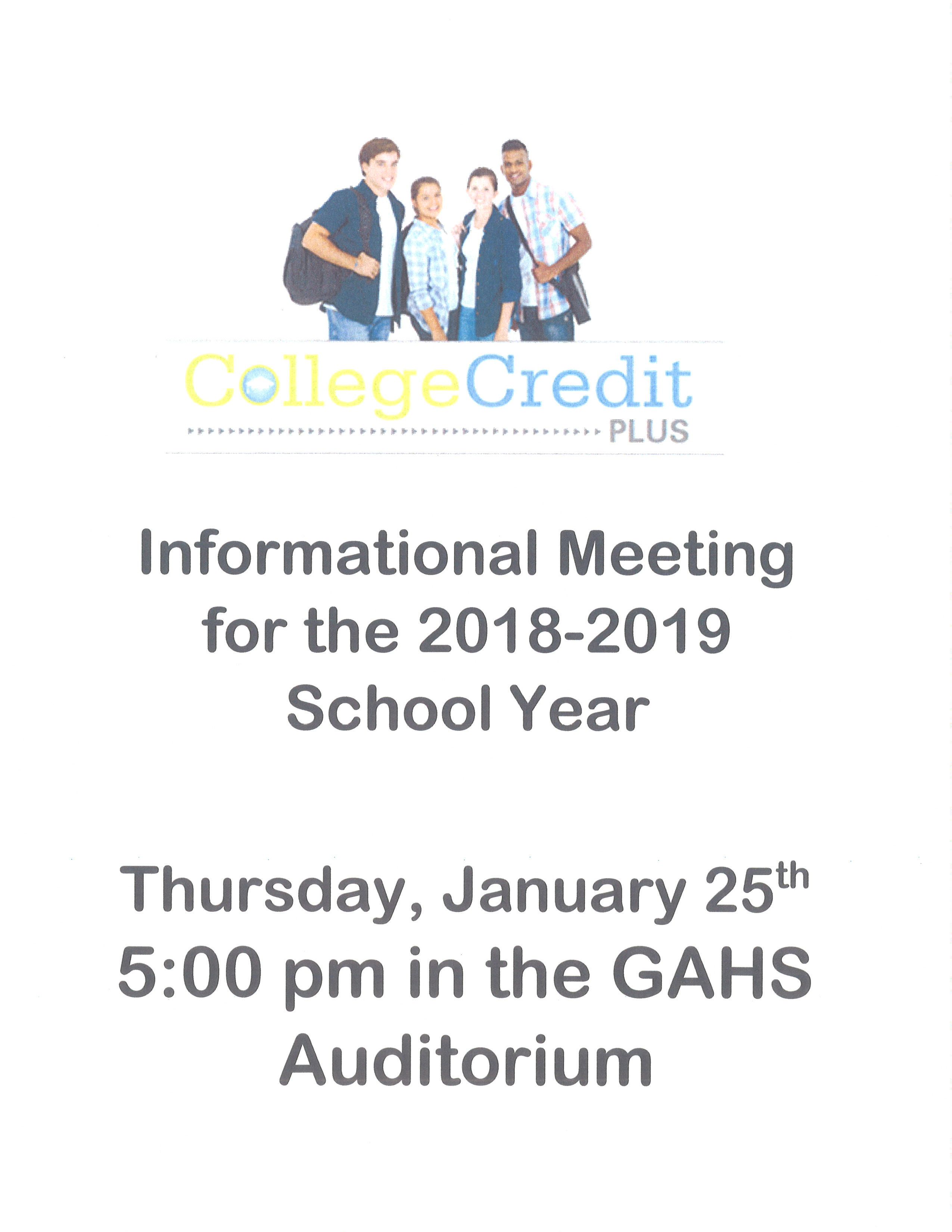 Thursday, January 25th @ 5:00